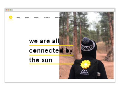 Little Sun Landing Page branding typography web ui design daily ui 003