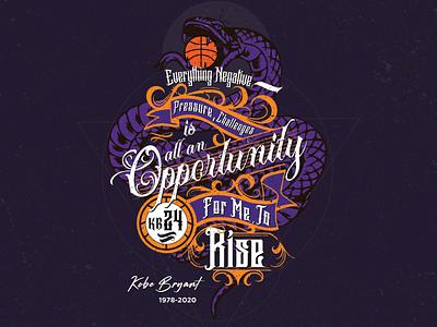 For Mamba graphicsdesign mambamentality kobe24 artwork purpleandgold kobe8 typography illustration