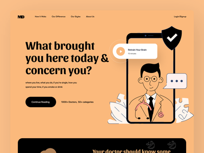 Medical Service Landing page appointments company illustraion uiux website homepage design insurance company hospital website landing page book appointment medicine healthcare medical doctors medical website ui design hero section landing page design website design web design