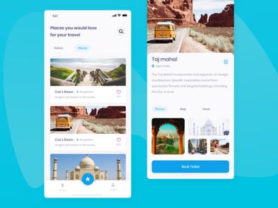Travel app | Ticket app animation design travel app design hotel booking app air ticket app bus ticket app travel app iphone x uiux android app design ios app design ticket app design