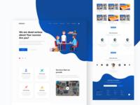 Education Landing Page Design