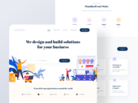 Landing Page Design for SAAS Agency