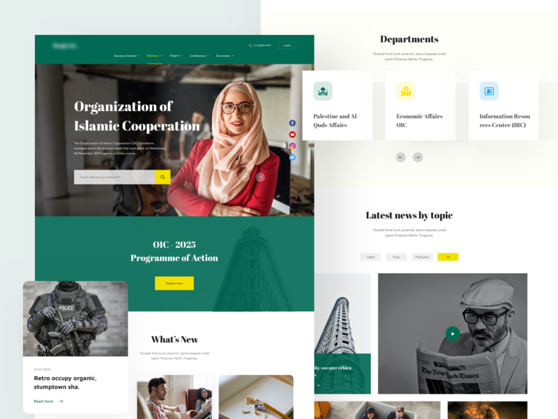EVENT NEWS - Landing page Design animation digital agency card design typography galleries unsplash agency landing page business navigation bar slide scrolling clean design trendy user interface design uidesign landing page design web landing page newsfeed fashion news