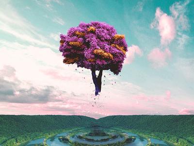 Tree of Life illustration abstract art design