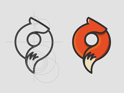 Hello Dribbble! logo fox