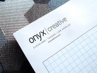 Onyx Creative Grid Paper Letterhead