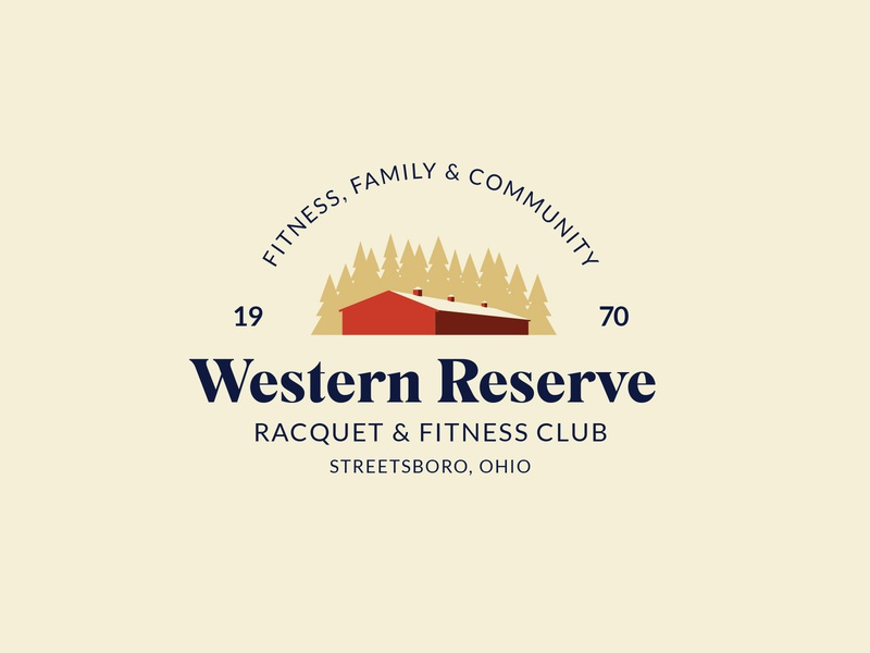 Western Reserve Racquet & Fitness Club Logo Concept branding badge community logo community family ohio club fitness racquet fitness club reserve landscape vector logo