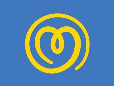 Crossroads Health Logo Mark 501(c)(3) rebranding non-profit nonprofit awareness journey heart sun simple branding logo