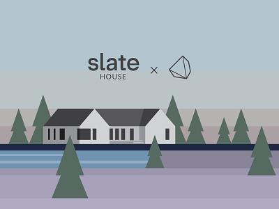 Slate House Illustration geometric slate house simple vector illustration