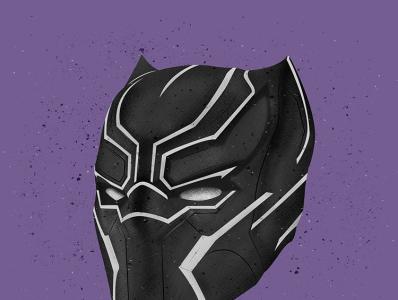Black Panther Helmet Illustration icon illustration design vector comic vectorart vector illustration