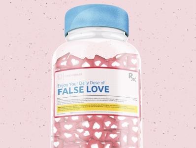 Daily Dose of False Love flat icon social media branding vector illustration vectorart vector illustration design