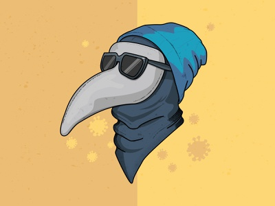 2020 Hipster Plague Doctor flat illustration graphic  design mask funny humorous illustration virus hipster plague doctor designer funny illustration vectorart vector icon vector illustration illustration corona virus coronavirus covid covid19 2020