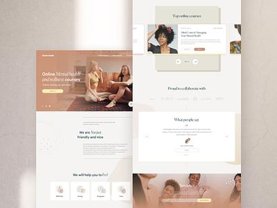 Wellness studio web design minimalist landing minimal ux uidesign web ui digital design wellness center studio wellness