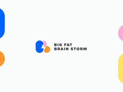 BIG FAT BRAIN STORM  logo web logodesign logotype branding minimal vector digital available unpaid design ui logo design logo