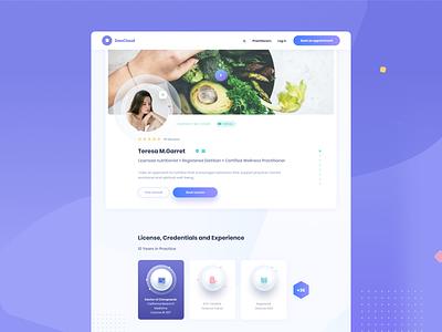 DaoCloud design proposal  - Pro Profile vector minimal uidesign web ui digital design health website appointment schedule app book practitioners wellness