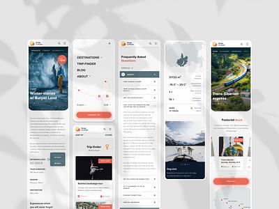Bridge to Russia travel agency vector ux uidesign minimal web ui digital design traveling russia travel agency travel
