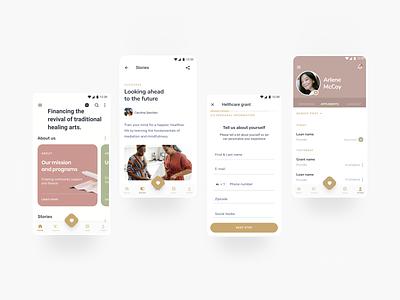 The Victoria Project mobile app health wellness digital design uidesign minimal web ui app design mobile app