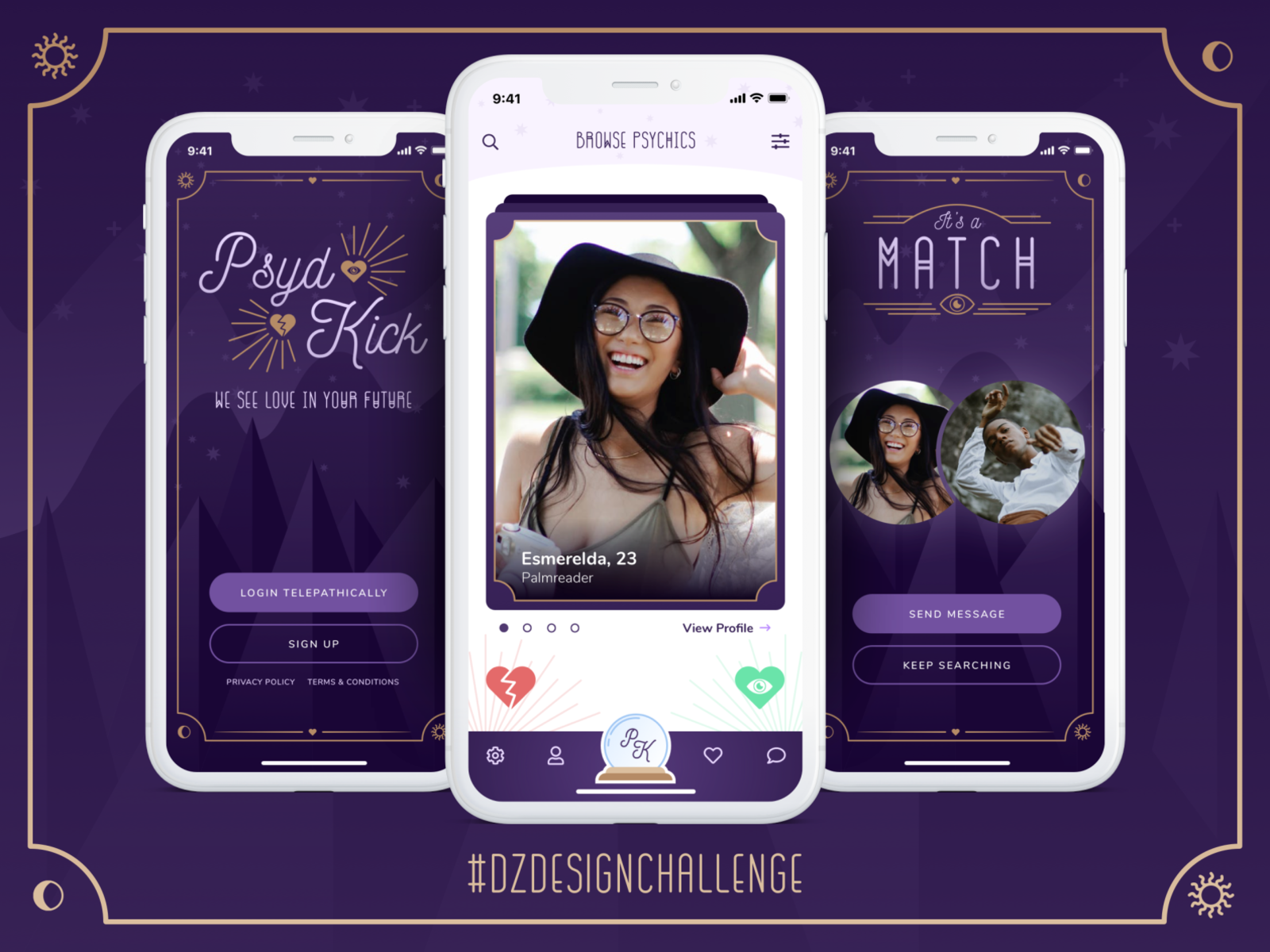 Psydkick Dating App Dz Design Challenge 2020 Month 01 By James Connolly For Designzillas On Dribbble