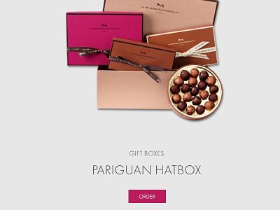 La Maison chocolat luxury ecommerce uxui ui design ux deisgn web design