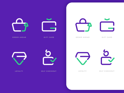LoyLap Launcher Icons gift gift card order loyalty website app application ui design icon design branding iconography icon