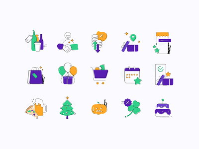 BOGO Campaigns bogo products stamp loyalty coffee shop restaurant store purchase shopping shop illustration web design app design customer user buy promotion offers rewards campaigns