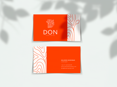 DON Landscaping logo decoration tree sustainability sustainable recycle nature card graphic design design branding business card landscape design landscaping