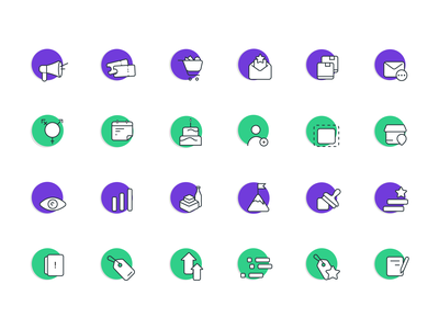 Campaigns Icons transactions products stamps cashless payment store partnership companies campaigns iconography icons illustration ui mobile loyalty customers branding app design ui design