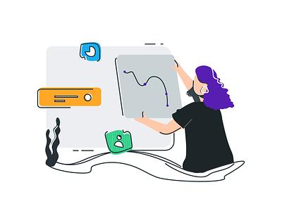 Dashboard dashboard app line dashboard vector ui app mobile illustration design branding ui design