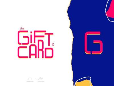 The Gift Card Company asymmetry abstract icon digital gift card gift gift card logo mobile illustration app design branding ui design