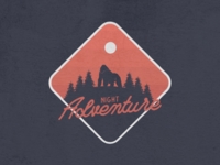 Night Adventure Gorilla vintage badge