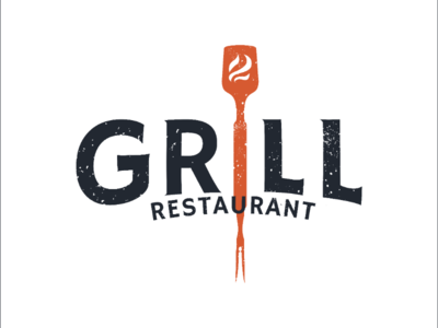 Grill logo | let's grill some meat🥩