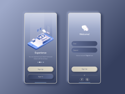 DailyUI 001 Sign In Page log in signup sign in ui mobile dailyui 001