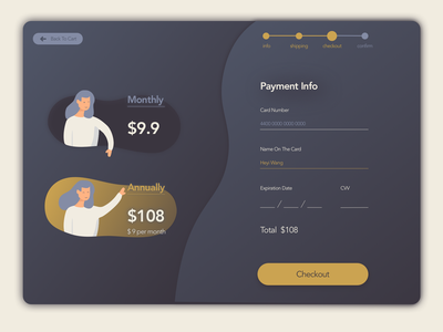 Daily UI 002 Checkout dailyui 002 dailyui creditcard payment webpage checkout