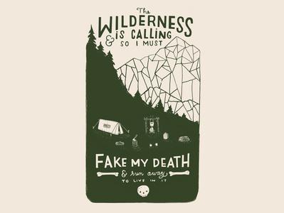Wildernesscalling Dribbble skull wilderness graphic art design handlettering lettering drawing illustration
