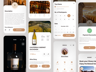 BOISSET WeChat Mini Mpp ticket share successful icon ui book social scan select profile payment red wine wine winery order app mobile mobile app
