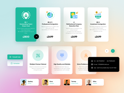 UI Kit for greencardlegal illustration profile colorful button price web web design website design mobile app design ux design ui design card design cards ui kit design ui kit ui kits ux ui icon