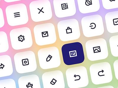 ICONS design for CheckMath logo web web design application app design uiux dark mode dark ipad app mobile app design icon set colorful colors mobile mobile app ux design ui design icon design icon