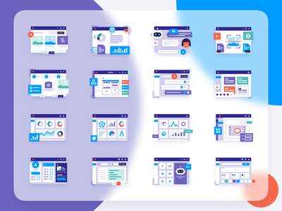 Illustrations for CYCLONE Web ui kit dashboard design dashboard ui dashboard app design application app website app design web app icon icons design landingpage product design vector illustration design vector illustration website website design web design web illustration