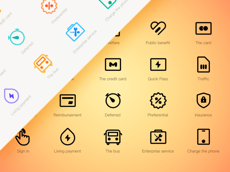 A Set Of Icon Design Exercises by TenneyTang for RaDesign on Dribbble