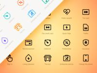 A Set Of Icon Design Exercises