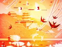 Summer Palace New Year Illustration