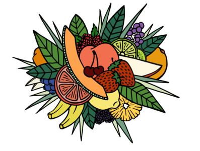Fruit Cluster color illustration seattle