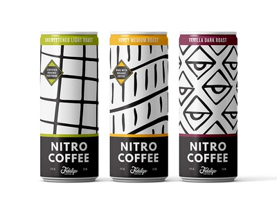 Fidalgo Nitro Coffee Cans craft beverage system pattern washington seattle product design package cans coffee nitro