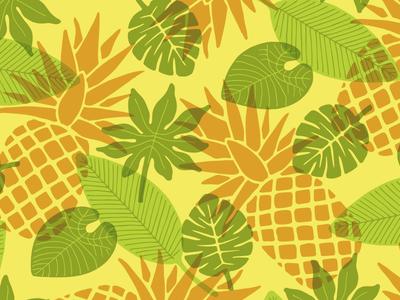 Pineapple Pattern vibes color tropical washington seattle design illustration pattern