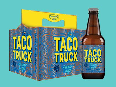 Taco Truck Lager color system illustration design craft washington seattle branding beer