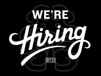 We're Hiring! washington blindtiger ballard seattle work employment jobs packaging branding beer