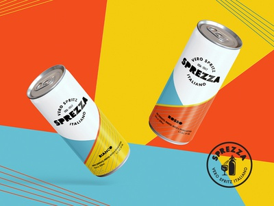 Sprezza design spritz beverage wine italy seattle can colors packaging