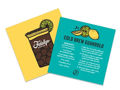 Cold Brew Guandolo layout seattle color coffee design illustration
