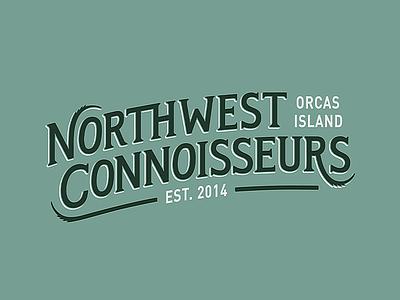 Northwest Connoisseurs pnw cannabis lettering custom design branding