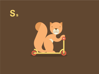 Scooter Ridin' Squirrel